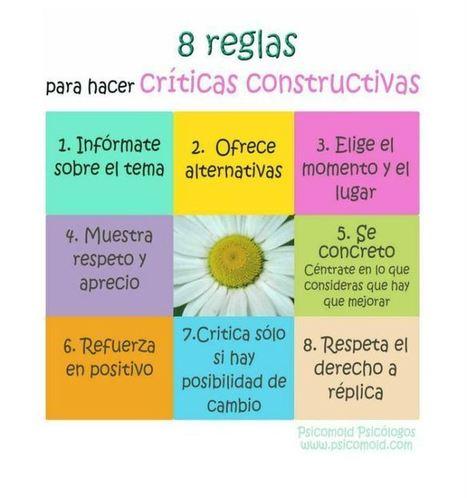 Crítica Constructiva - 8 Tips para Realizarla con Asertividad | Infografía | tecnología educativa | Scoop.it