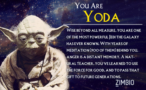 I took Zimbio's 'Star Wars' personality quiz, and I'm Yoda. Who are you? | The Blog's Revue by OlivierSC | Scoop.it