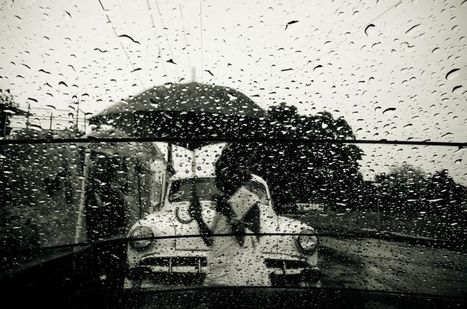 Ghost with umbrella by street photographer amarulero on UPSP | black & white and street photography | Scoop.it