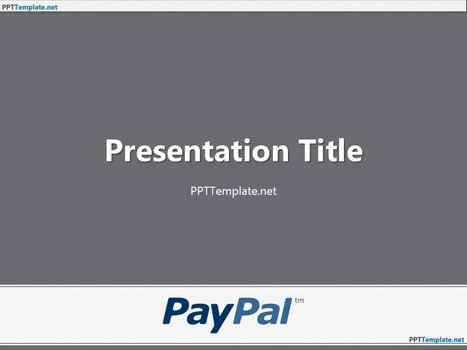 Free PayPal With Logo PPT Template | Free PPT Templates | Scoop.it