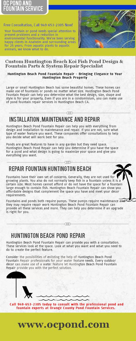 Huntington Beach pond fountain service   Huntington Beach pond fountain service   Scoop.it