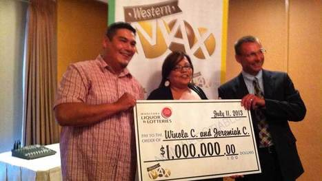 Sagkeeng couple wins $1M in Western Max lottery - CBC.ca   Lotto Black Book   Scoop.it