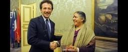 Dr Vandana Shiva meets the mayor of Perugia, Wladimiro Mugs | Stop Monsanto | Scoop.it