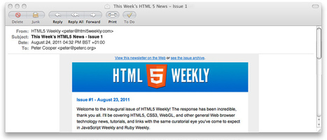 HTML5 Weekly: Weekly HTML5 News and Browser Tech | Social Network Analysis | Scoop.it