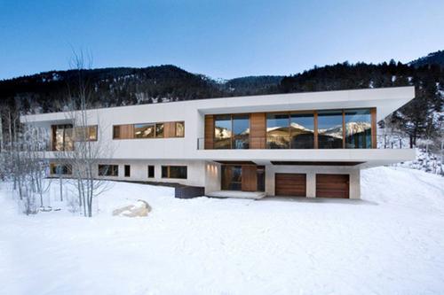 Maison contemporaine en montagne linear house studio b architects aspen usa construire - Maison edge aspen studio b ...