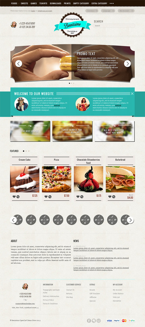 Benissimo, OpenCart Vintage Style Restaurant Theme | Premium Download | Premium Opencart Themes | Scoop.it