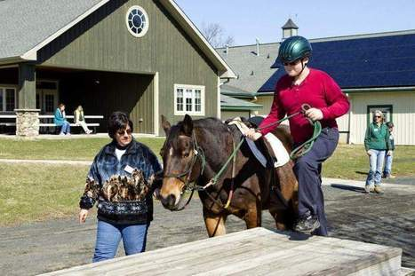 Special-needs students learn lessons horsing around at Sunnyside - Asbury Park Press | Methods of treatment for autistic children | Scoop.it