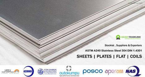 304stainless steel Plates,sheets exporters india | Gaurav Steel | Scoop.it