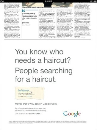 Google Uses Print Newspaper Ad To Advertise Search Ad Effectiveness - 10,000 Words | Journalism marketplace | Scoop.it