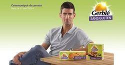 Gerblé et Novak Djokovic s'associent autour du sans gluten | 16s3d: Bestioles, opinions & pétitions | Scoop.it