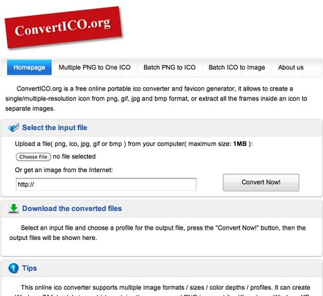 ConvertICO.org - PNG to ICO & ICO to PNG Converter, Favicon.ico Generator | Technology Ideas | Scoop.it