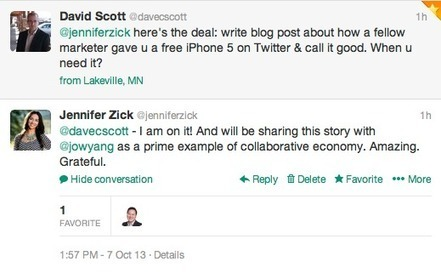 How I Got an iPhone 5 for Free: The Collaborative Economy In Action | Innovation Mindz | Scoop.it