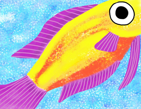 IPad Explorations 12 – Brushes fish | Christine Martell | iPad for Art | Scoop.it