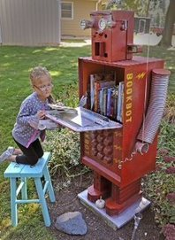 Free Library BookBot Stolen From Michigan Neighborhood - CBS Local | Library Watch | Scoop.it
