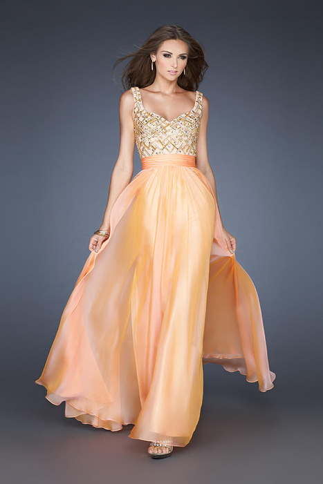 Peach Two Straps Lattice Sequin Top Prom Dresses Online Sale [Sequin Top Prom Dresses] - $183.00 : La Femme Outlet, 60% Off La Femme Sale Online | gownprincess | Scoop.it