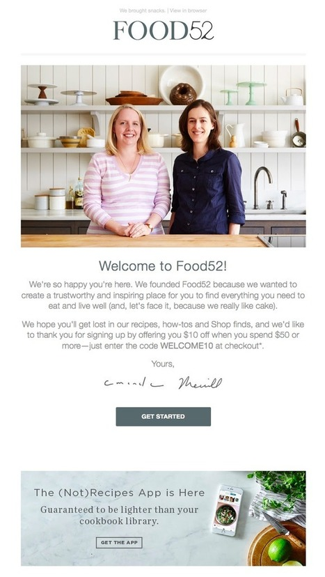 7 Great Examples of 'Welcome' Emails to Inspire Your Own Strategy | Seo, Social Media Marketing | Scoop.it