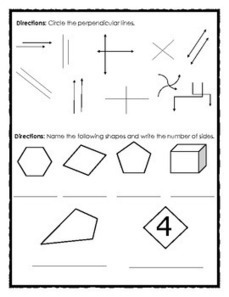 FREE Elementary Geometry Review: Angles, Shapes and Perpendicular Lines   Free Elementary Worksheet Printables   Scoop.it