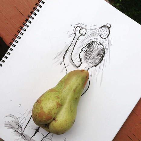 De l'extra dans l'ordinaire #1 :  les illustrations de Kristián Mensa - Communication (Agro)alimentaire | Communication Agroalimentaire | Scoop.it