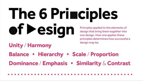 The 6 principles of design [infographic] | 4D Pipeline - trends & breaking news in Visualization, Mobile, 3D, AR, VR, and CAD. | Scoop.it