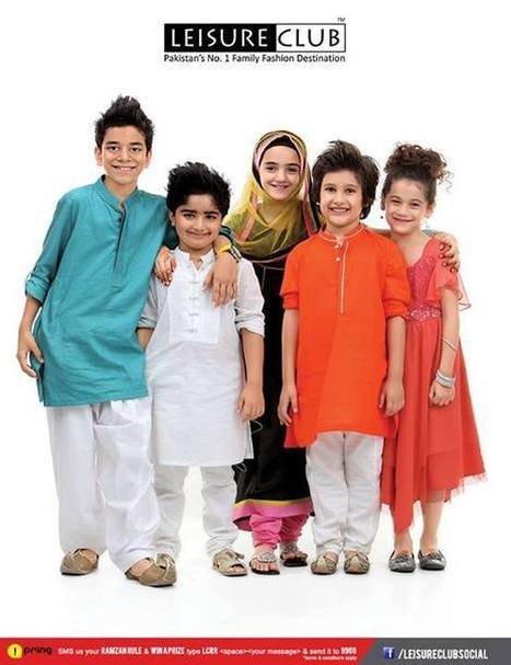 Leisure Club Latest Exclusive Eid Dresses Collection 2013 For Kid's | stylostyle | Scoop.it