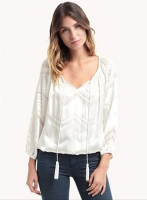This ivory silk top is stunning for a Christmas party! | Village Boutique | Scoop.it