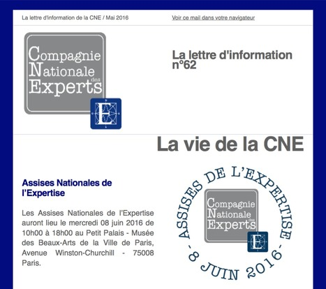 "L'actualité de la Compagnie Nationale des Experts et de ses membres n°62 / Mai 2016 | ""L'Expert-Marchand"" 