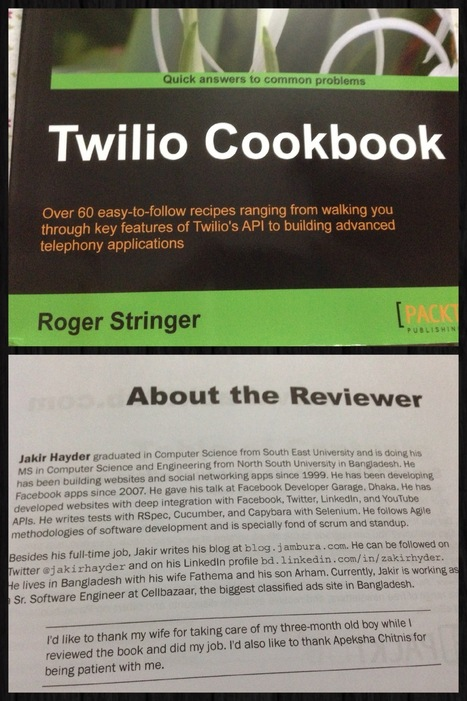 "I Reviewed The ""Twilio Cookbook"" 