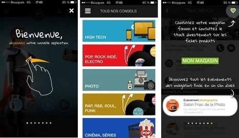La Fnac relie le Web et le magasin avec son appli mobile   Retail Solutions & Architecture   Scoop.it
