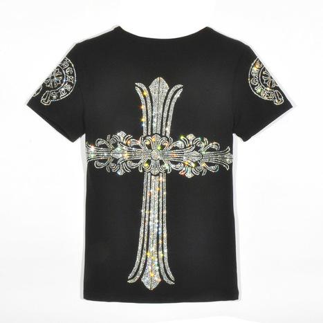 Chrome Hearts Black Short Sleeves T-Shirt with Back Big Diamonds Cross [Chrome Hearts T-shirts] - $158.00 : Cheap Chrome Hearts | Chrome Hearts Online Store | Tayler Kula | Scoop.it