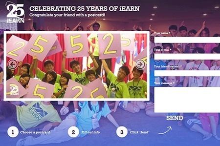 Congratulate your friends with a Happy 25th Anniversary iEARN Postcard! | iEARN Pangea. Educar per unir | Scoop.it