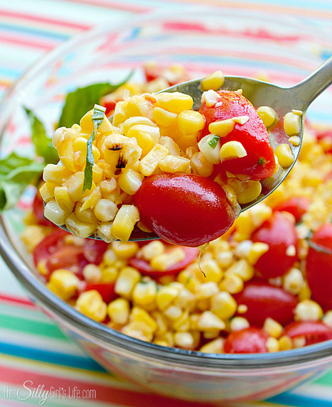 #HealthyRecipe // Fresh Grilled Corn and Tomato Salad | Lose Weight | Scoop.it