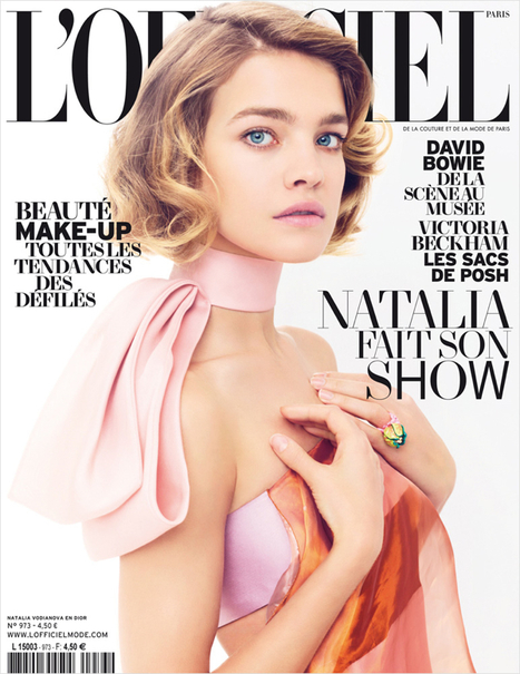 [cover] Natalia Vodianova shot by Benoit Peverelli for L'Officiel Paris | March 2013 | Fashion & more... | Scoop.it