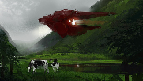 A pastoral scene with cows and starships | Strange days indeed... | Scoop.it