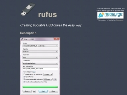 11 logiciels pour créer des clés USB bootables (Windows, Flash, ISO …) | Time to Learn | Scoop.it