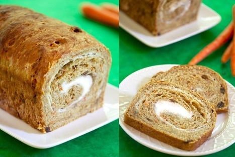 Vegan Carrot Cake Bread with Cream Cheese Frosting Swirl | My Vegan recipes | Scoop.it