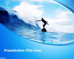 Free Surfing PowerPoint Template | Free Powerpoint Templates | Cove House Cornwall | Scoop.it
