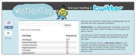 Whathashtag. Herramienta para encontrar los hashtags más utilizados sobre un tema   #RedesSociales y Marketing Online   Scoop.it