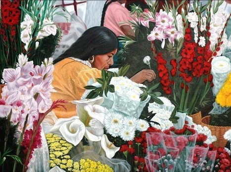 Mercdo De Flores Painting | Mexican Furniture and Decor | Scoop.it