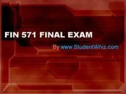 fin 571 final exam 2015
