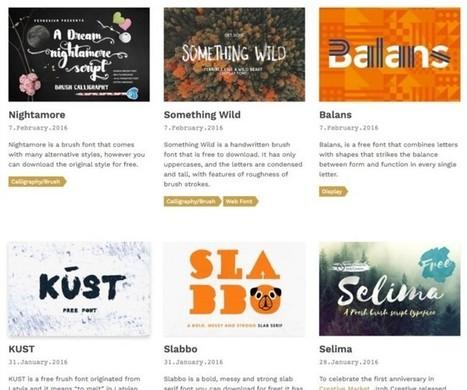 Tiempo para aprender: Las mejores 13 webs para descargar tipografías gratis | TIC | Scoop.it