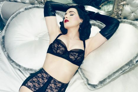 Dita Von Teese and her boobs model her lovely new lingerie line - Mirror.co.uk | design | Scoop.it