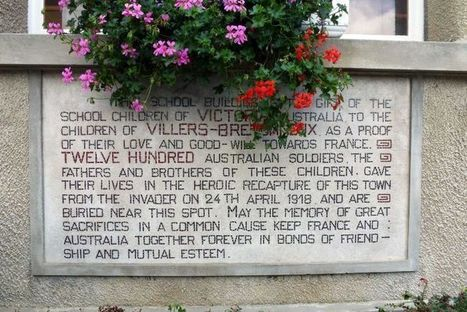 Remembrance Day to echo efforts in renovating French school   FrenchNewsOnline-World War Memorial   Scoop.it