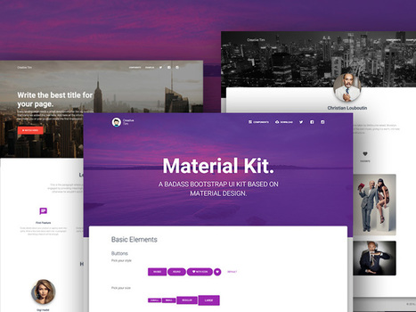 Material Kit by Creative Tim | Rapid eLearning | Scoop.it