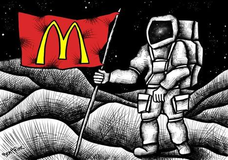 An Macdo Flag see on the Moon ? | Fast Food in American lifestyle and Culture | Scoop.it