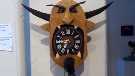 Automata clock-monster with moving eyes - Boing Boing | automata and automatons | Scoop.it