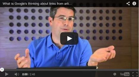 What is Google's thinking about links from article marketing, widgets ... | Dos and Don't of Article Marketing | Scoop.it