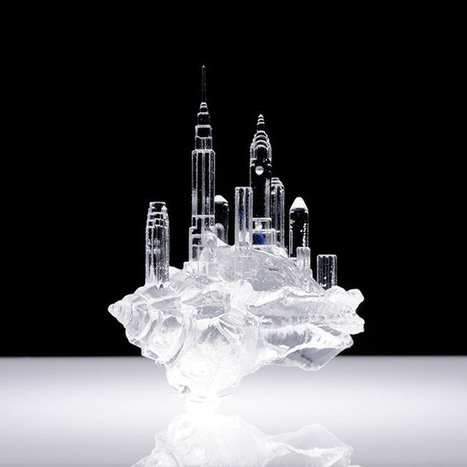 Translucent Hermit Shell Crabs Adorned with Architectural Cityscapes by Aki Inomata | Colossal | Translucent Worlds | Scoop.it