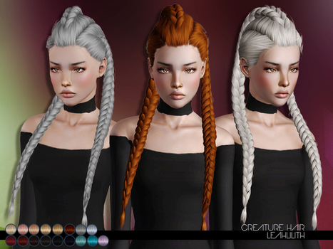 Creature Hair for TS3 by LeahLillith by The Sims Resource | Sims 3 Downloads | Scoop.it