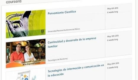 Los primeros cursos en español de Coursera.- | + TIC y + educación para todos | Scoop.it