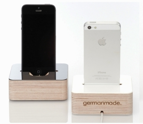 German made iPhone 5 dock made from plywood | DamnGeeky | DamnGeeky | Scoop.it